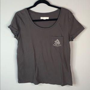 Spiritual gangster gray namaste yoga T-shirt M